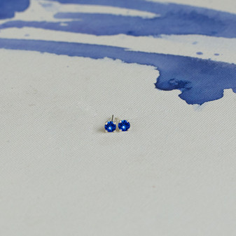 Sterling Silver Sapphire Cornflower Blue Earrings