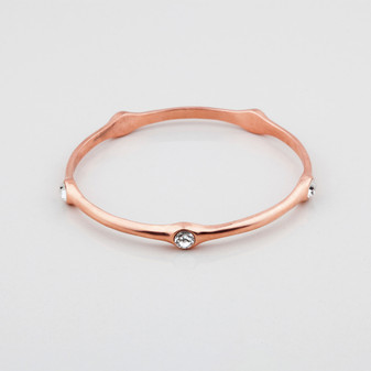 Rose gold plated bangle encrusted with Swarovski® Crystals