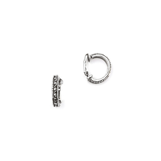 Burnished Silver Clip-On  Hoops (E2495)-R199