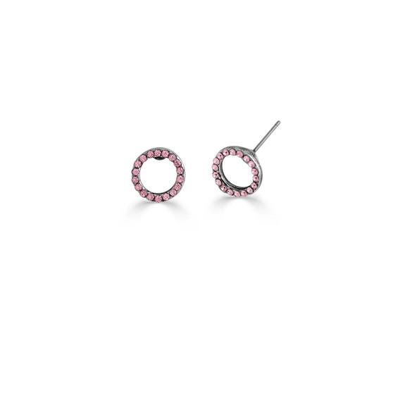 Light Rose Illusion Stud Earrings