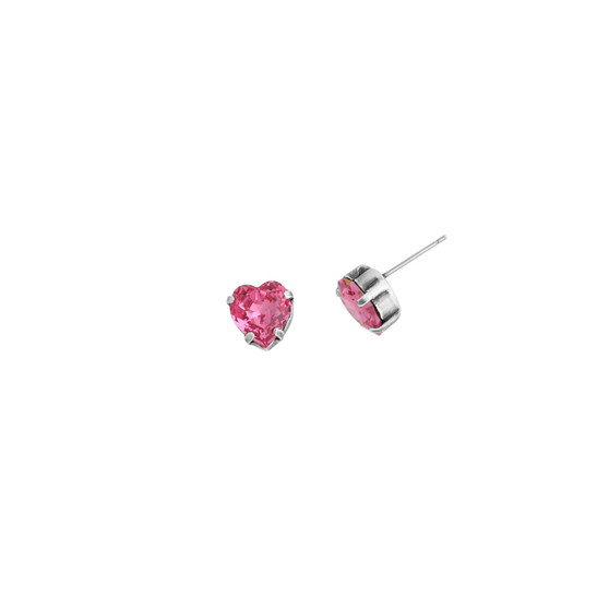 Rose Duchess Heart Stud Earrings (E4488)