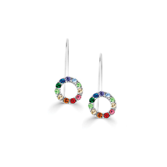 Rainbow Drop Earrings (E4506)-R499