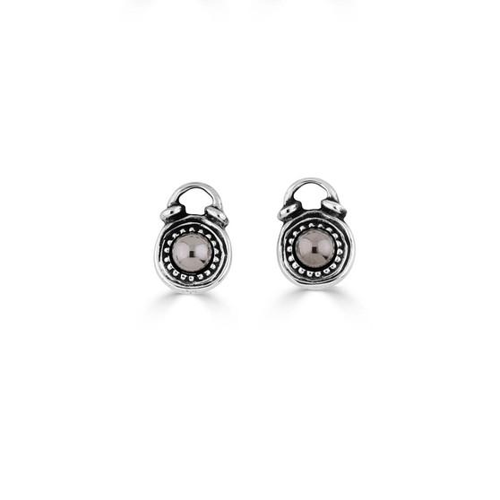 Bronze Hematite Earring Charms (E4548)