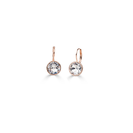 18ct rose gold-plated Petite Glam Rock Earrings ( E4692 )