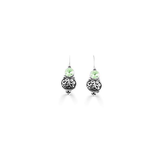 Mint Green Amour Drop Earrings  ( E4735 )