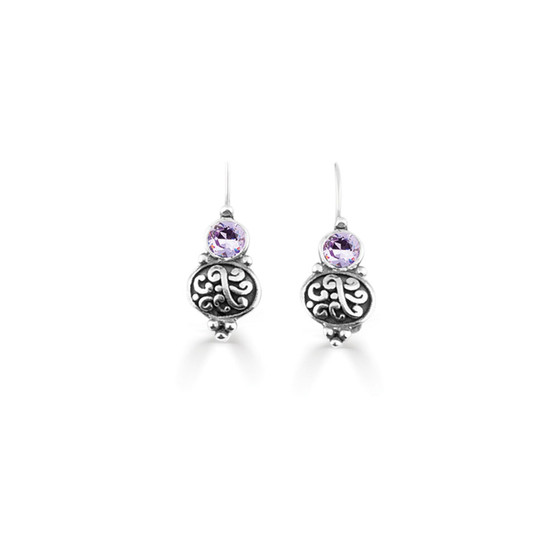 Violet Amour Drop Earrings  (E4736)
