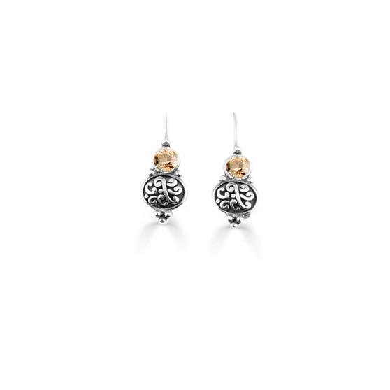 Golden Shadow Amour Drop Earrings  ( E4743 )
