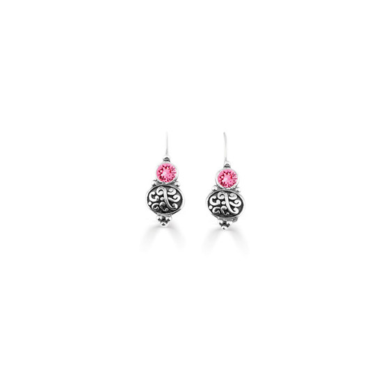 Rose Amour Drop Earrings  (E4745)