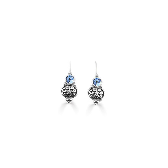 Light Sapphire Amour Drop Earrings  ( E4747 )