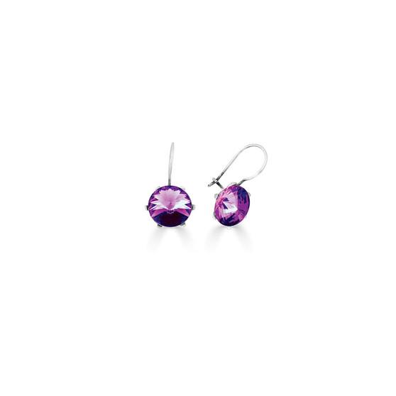 Spirit Of A Woman Amethyst Drop Earrings ( E4750 )