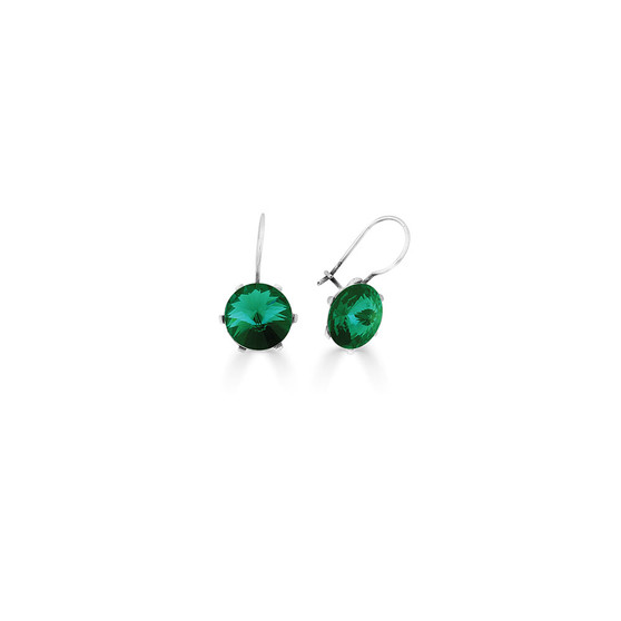 Spirit Of A Woman Emerald Drop Earrings ( E4756 )