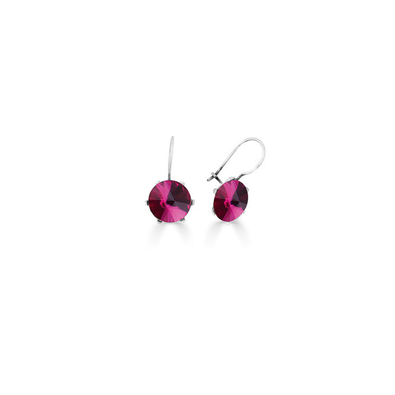 Spirit Of A Woman Fuchsia Drop Earrings ( E4757 )