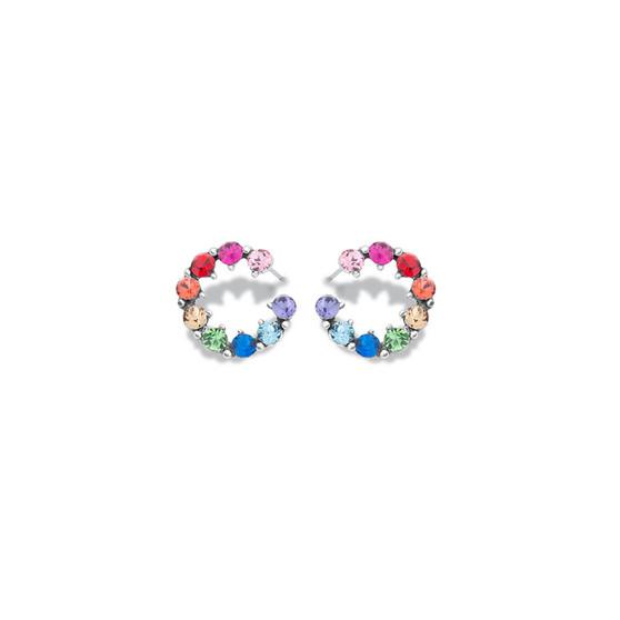 Rainbow Circle Stud Earrings ( E4779 - Valued at R599 )