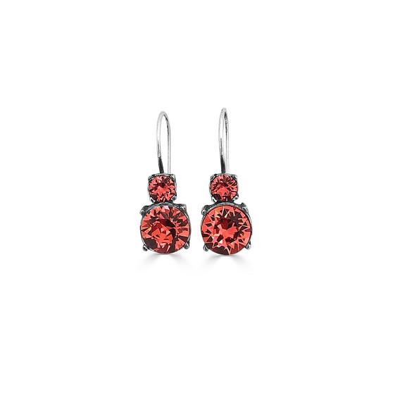 Coral Sangria Drop Earrings