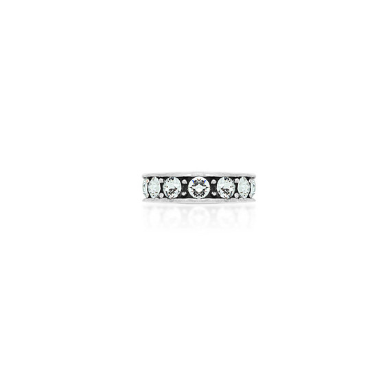 Crystal Ombre Ring - Sterling Silver 925