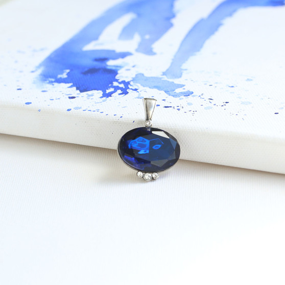 Royal Sapphire  Oval Crystal Enhancer