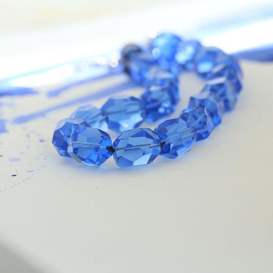 Sapphire Cornflower Blue Necklace