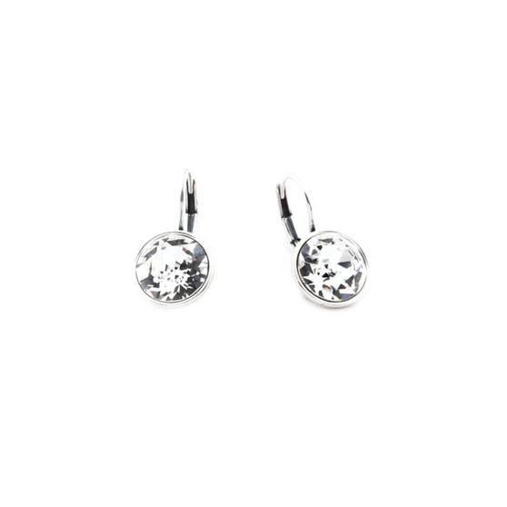 Petite Glam Rock Drop Earrings (E2838)  • Miglio burnished silver •10mm brilliant-cut Swarovski® crystal • lever back clasp fastening
