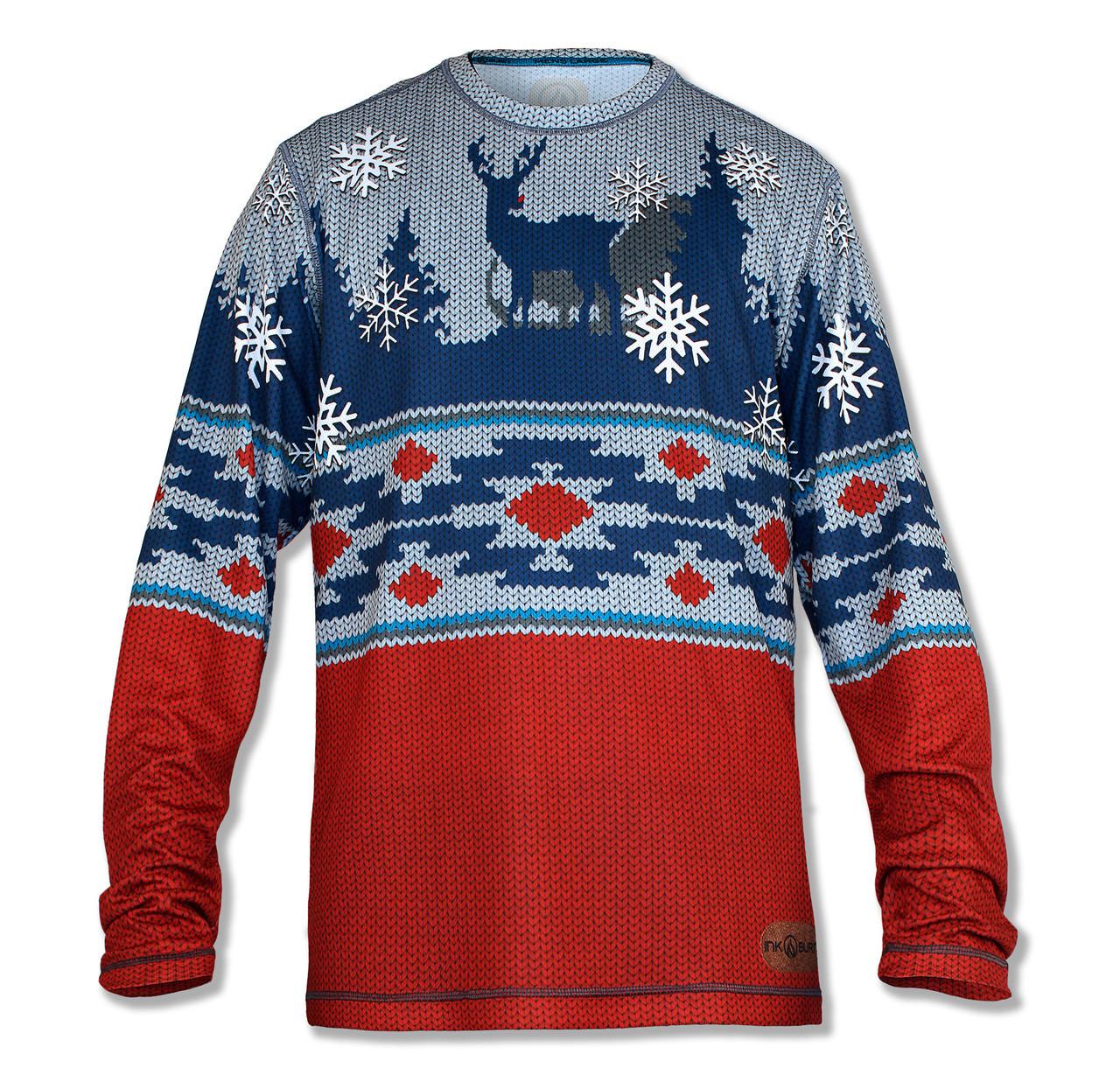 4dfbc08b1d645 INKnBURN Men s 2018 Holiday Sweater Tech Shirt