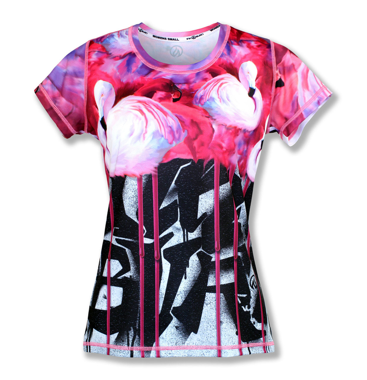dab85b1901 INKnBURN Women's Urban Flamingo Tech Shirt. Great for running ...