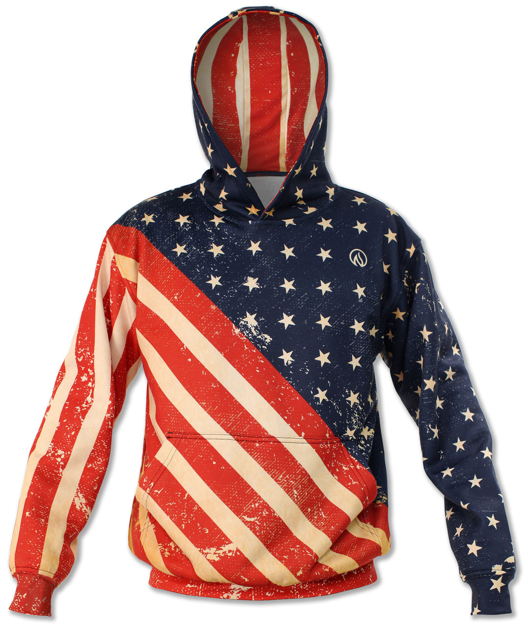 5d0d3e6de16 INKnBURN Patriot Pullover Hoodie with Front Pockets