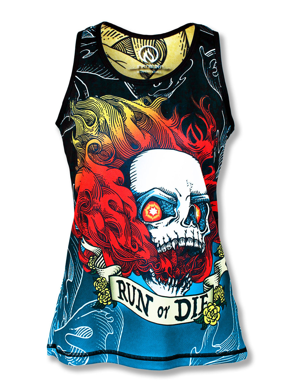bc89227cc3 Women's Run or Die Fire Skull Singlet or Tank | Running & CrossFit