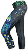 2f2d00a4331be INKnBURN Women s Peacock Capris Left Side with Waistband Folded Down