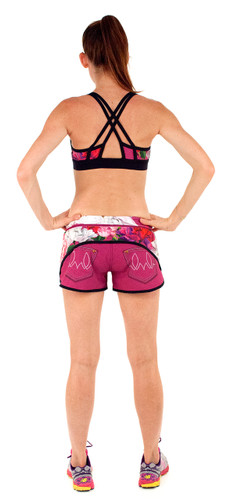 0fb17b10aa7c5 ... INKnBURN Women s Pink Flora Sports Bra and Pink Flora Shorts