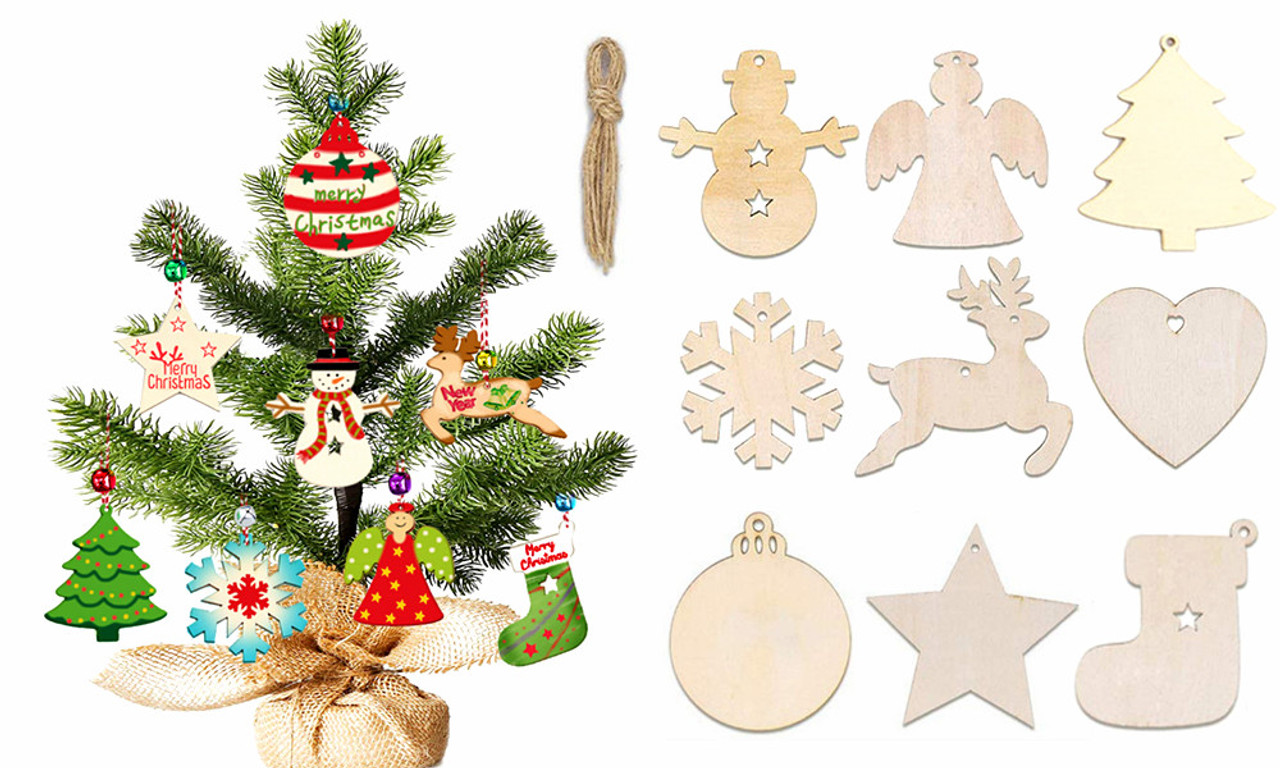 Diy Wooden Christmas Tree Ornaments Decorations Jaoyeh Trading