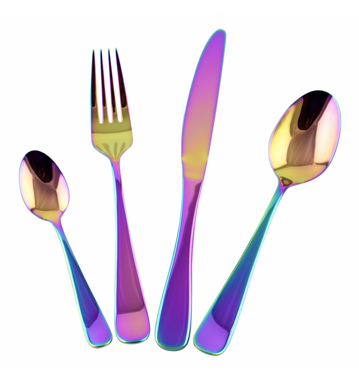 CUTLERY SET STUNNING LOOK 8//16 PIECE HOLOGRAPHIC