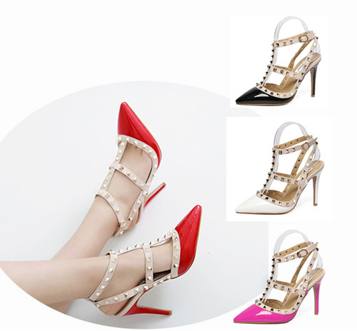 Elegant look High-heeled shoes with strap