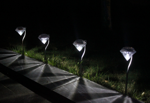 LED Solar diamond light,stainless steel floor lawn garden lamp,colorful decorative light