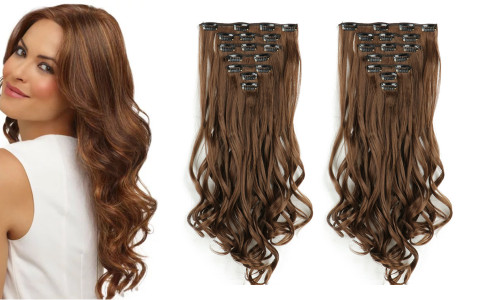 Professional 7pcs full set clip in hair extensions