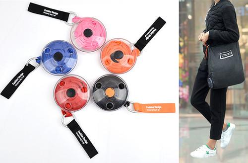 Disc Portable shopping bag
