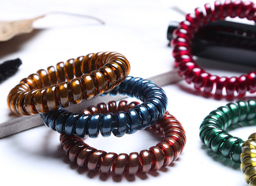 Light up Spiral Plastic Hair Bands