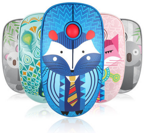 Extra Quite Wireless Mouse in Cute designs