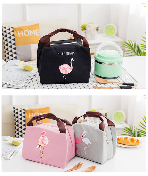 Pretty Flamingo Thermal Insulated Lunch Bags