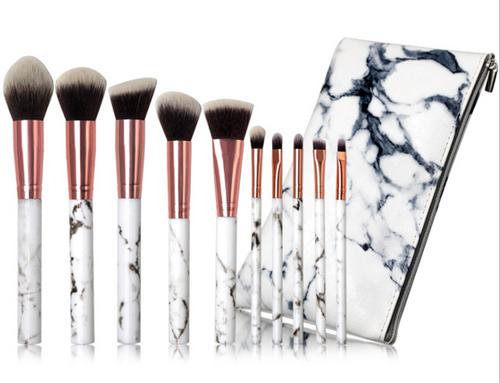 10pcs Marble Make up brush set