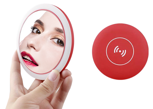 Ella LED mirror and wireless charger