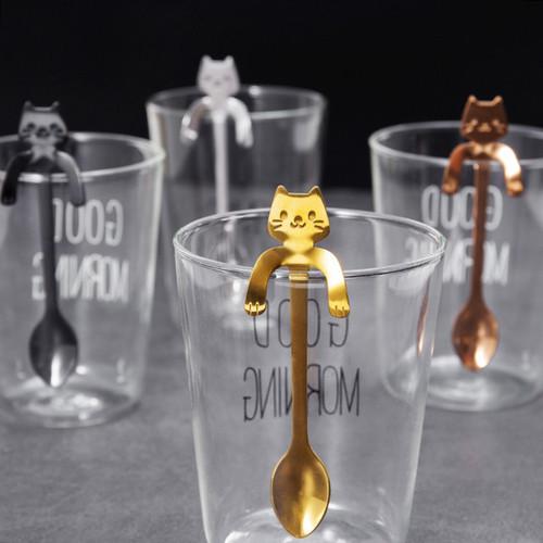 Stainless Steel Cute Cat Tea Spoons