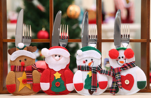 4pcs Christmas Dinner Cutlery set cover