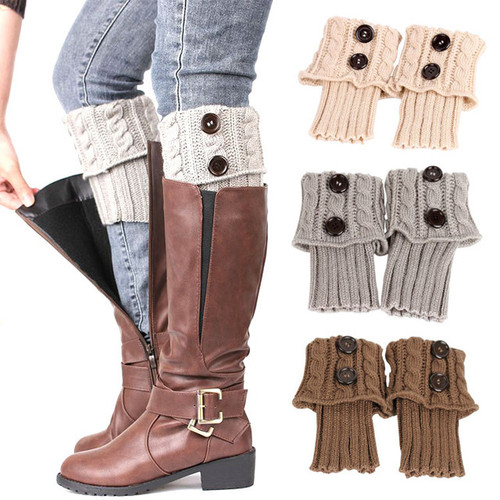 Winter Warm Crochet Knitted Lace boot topper