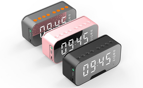 Clock Bluetooth Speaker with FM and alarm