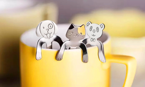 Happy animals stainless steel Spoon