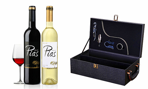 Luxury Leather Wine and accessory gift bundle
