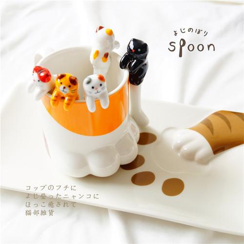 Ceramics Cat Spoon pack of 4