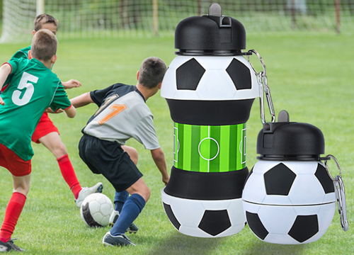 FDA approved foldable Football Water Bottle