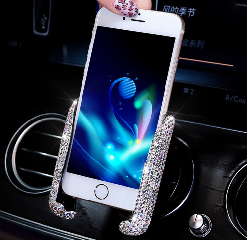 Glitter Sparkle Rhinestone Universal Car Phone Holder