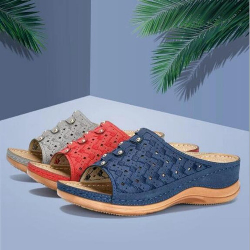 Soft Leather platform Comfy Sandals