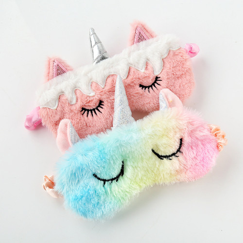 3D Fluffy Sleeping Travel Breathable Eyeshade